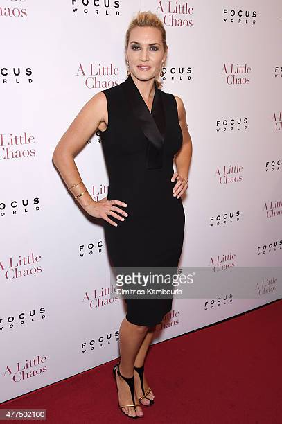 """Actress Kate Winslet attend the New York Premiere of """"A Little Chaos"""" at Museum of Modern Art on June 17, 2015 in New York City."""