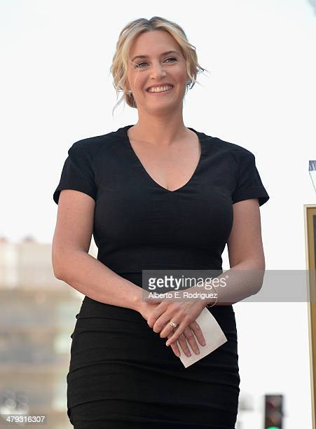 Actress Kate Winslet attends a ceremony honoring her with the 2520th Star on the Hollywood Walk of Fame on March 17 2014 in Hollywood California