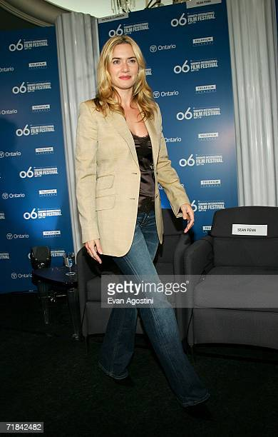 """Actress Kate Winslet attends """"All the King's Men"""" press conference during the Toronto International Film Festival held at the Sutton Place Hotel on..."""