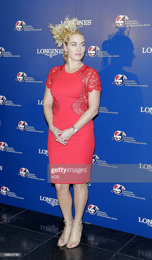 Actress Kate Winslet attends Longines Hong Kong International Races at Sha Tin Racecourse on December 9, 2012 in Hong Kong.