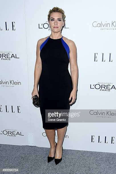 Actress Kate Winslet attends the 22nd Annual ELLE Women in Hollywood Awards at Four Seasons Hotel Los Angeles at Beverly Hills on October 19, 2015 in...