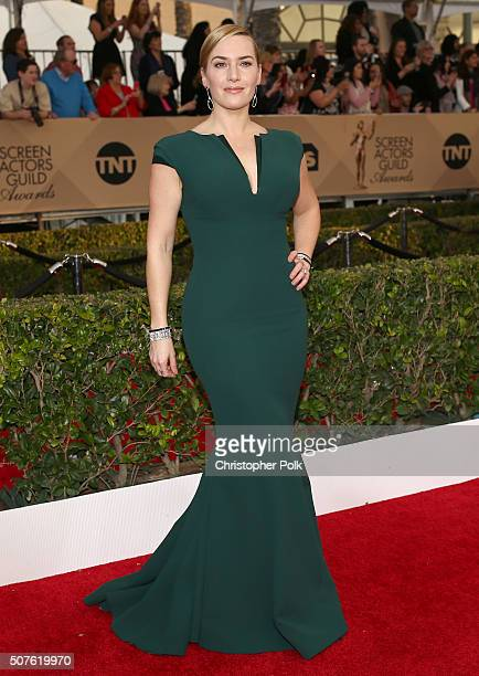 Actress Kate Winslet attends The 22nd Annual Screen Actors Guild Awards at The Shrine Auditorium on January 30 2016 in Los Angeles California...