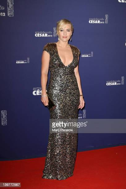 Actress Kate Winslet attends the 37th Cesar Film Awards at Theatre du Chatelet on February 24, 2012 in Paris, France.