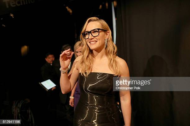 Actress Kate Winslet attends the 88th Annual Academy Awards at Dolby Theatre on February 28 2016 in Hollywood California