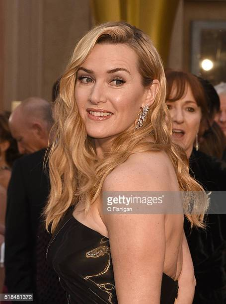 Actress Kate Winslet attends the 88th Annual Academy Awards at the Hollywood Highland Center on February 28 2016 in Hollywood California