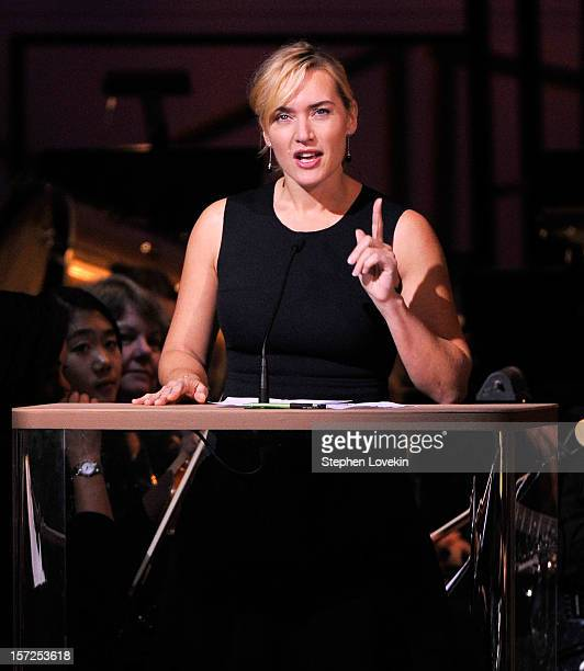 actress kate winslet attends the american christmas carol concert benefiting the golden hat foundation at carnegie - American Christmas Carol