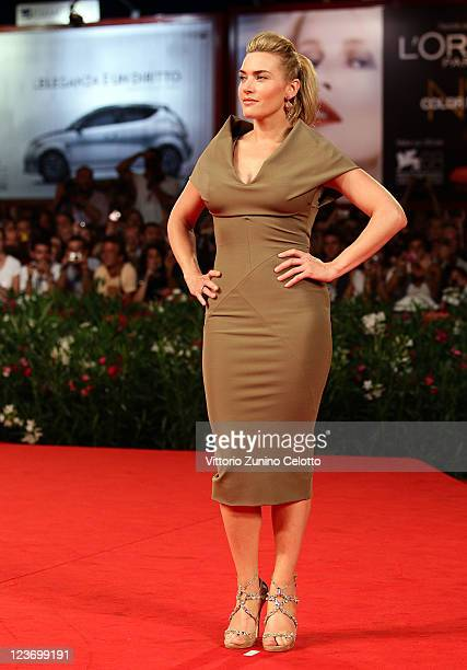Actress Kate Winslet attends the 'Carnage' premiere during the 68th Venice Film Festival at Palazzo del Cinema on September 1 2011 in Venice Italy