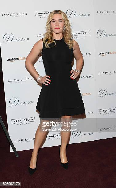 Actress Kate Winslet attends 'The Dressmaker' New York Screening at Florence Gould Hall Theater on September 16 2016 in New York City