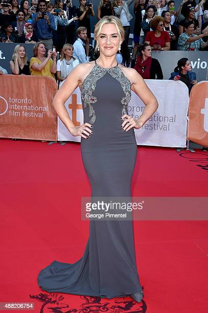 """Actress Kate Winslet attends """"The Dressmaker"""" premiere during the 2015 Toronto International Film Festival at Roy Thomson Hall on September 14, 2015..."""