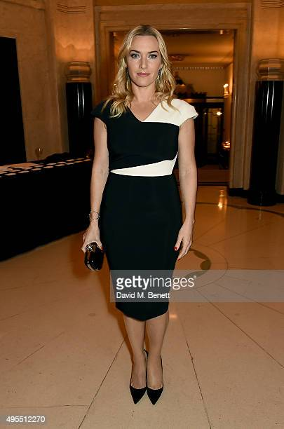 Actress Kate Winslet attends the Harper's Bazaar Women of the Year Awards 2015 at Claridges Hotel on November 3, 2015 in London, England.