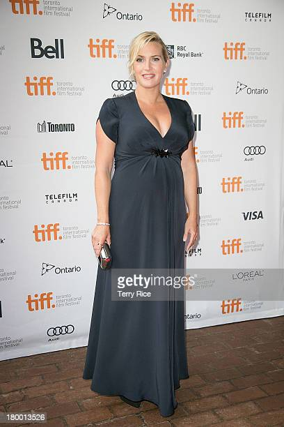Actress Kate Winslet attends the 'Labor Day' premiere during the 2013 Toronto International Film Festival at Ryerson Theatre on September 7 2013 in...