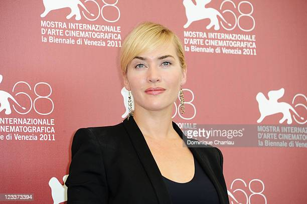 """Actress Kate Winslet attends the """"Mildred Pierce"""" Photocall during the 68th Venice International Film Festival at Palazzo del Casino on September 2,..."""