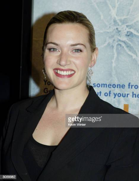 Actress Kate Winslet attends the movie premiere of Eternal Sunshine of the Spotless Mind on March 9 2004 at the Samuel Goldwyn Theater at the Academy...