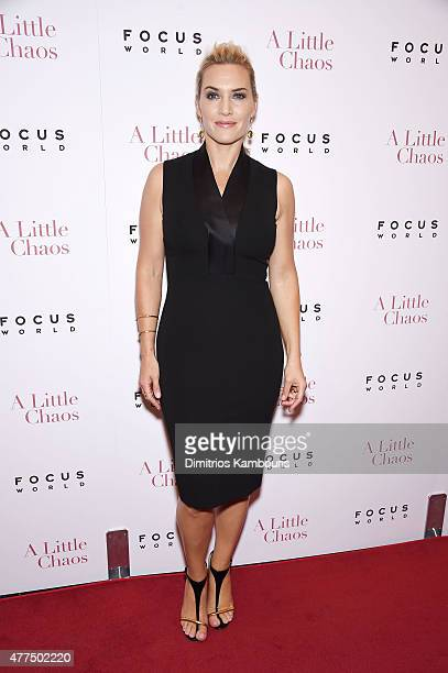 """Actress Kate Winslet attends the New York Premiere of """"A Little Chaos"""" at Museum of Modern Art on June 17, 2015 in New York City."""
