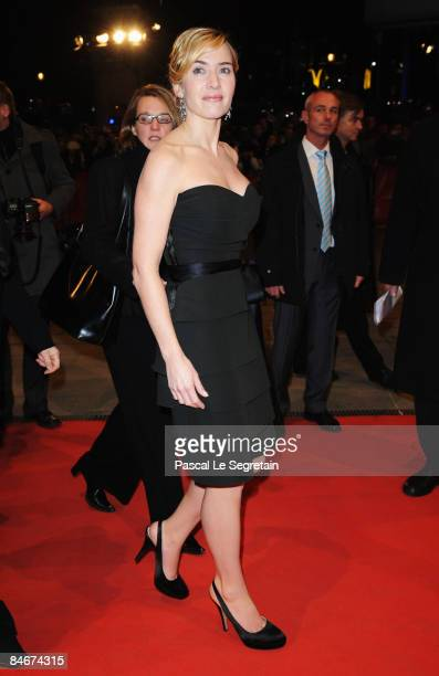 Actress Kate Winslet attends the premiere for 'The Reader' as part of the 59th Berlin Film Festival at the Berlinale Palast on February 6 2009 in...