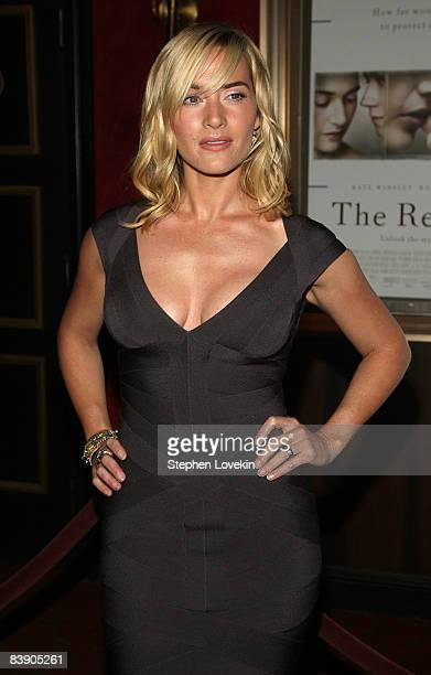 Actress Kate Winslet attends the premiere of The Reader at the Ziegfeld Theater on December 3 2008 in New York City