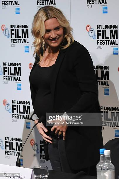 Actress Kate Winslet attends the press conference for 'Labor Day' during the 57th BFI London Film Festival at The Mayfair Hotel on October 14 2013 in...