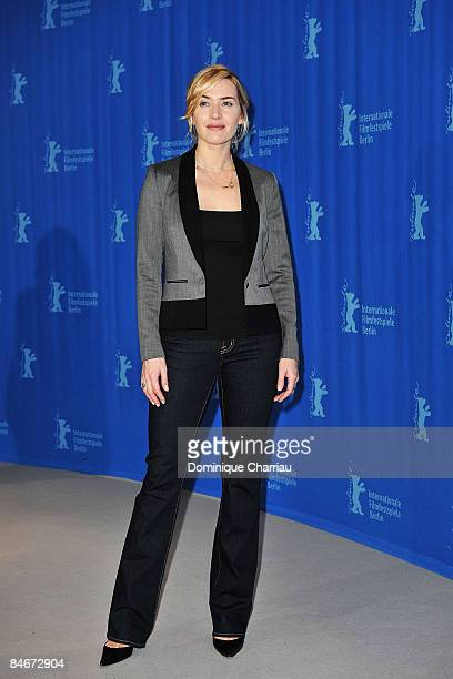 """Actress Kate Winslet attends """"The Reader"""" photocall during the 59th Berlin International Film Festival at the Grand Hyatt Hotel on February 6, 2009..."""