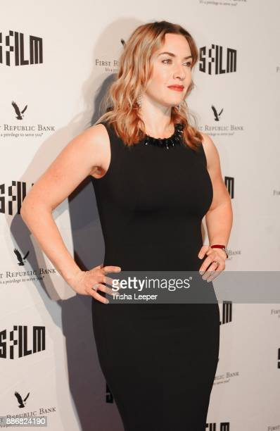 Actress Kate Winslet attends the SFFILM's 60th Anniversary Awards Night at Palace of Fine Arts Theatre on December 5 2017 in San Francisco California