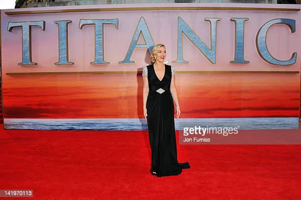 Actress Kate Winslet attends the 'Titanic 3D' world premiere at the Royal Albert Hall on March 27 2012 in London England
