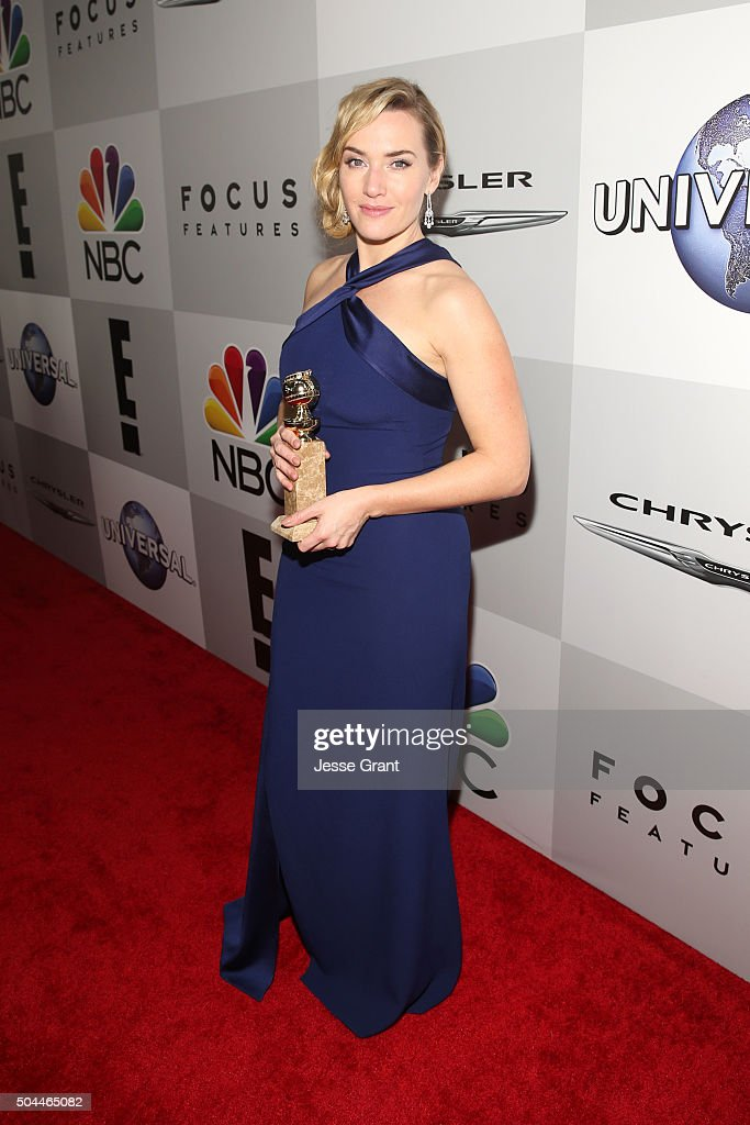 Actress Kate Winslet attends Universal, NBC, Focus Features and E! Entertainment Golden Globe Awards After Party sponsored by Chrysler at The Beverly Hilton Hotel on January 10, 2016 in Beverly Hills, California.
