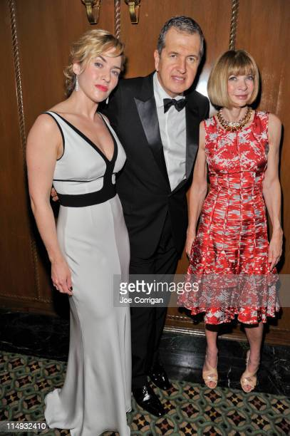 Actress Kate Winslet fashion photographer/evening honoree Mario Testino and Editor In Chief of Vogue Anna Wintour attend the 2011 El Museo Del Barrio...