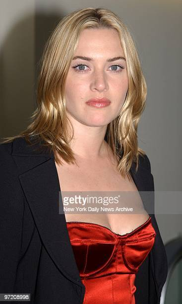 Actress Kate Winslet is on hand at the world premiere of the movie 'Iris' at the Paris Theater She stars in the film