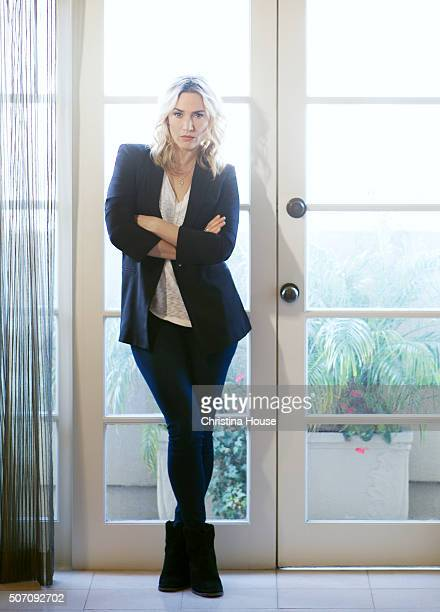 Actress Kate Winslet is photographed for Los Angeles Times on January 3 2016 in Beverly Hills California
