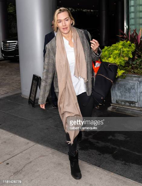 Actress Kate Winslet is seen on October 16 2019 in Philadelphia Pennsylvania