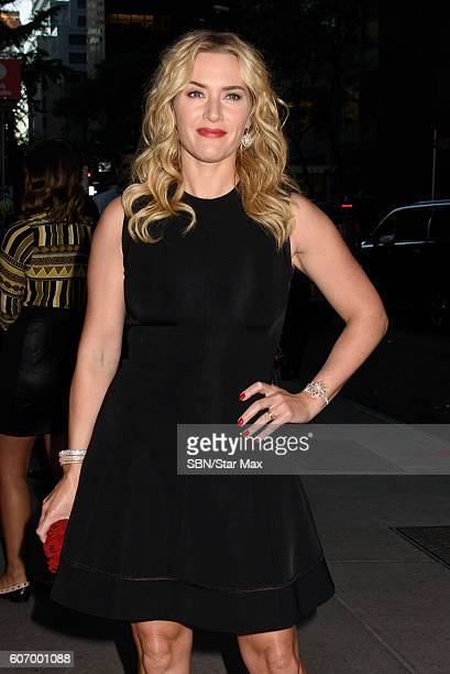 Actress Kate Winslet is seen on September 16 2016 in New York City