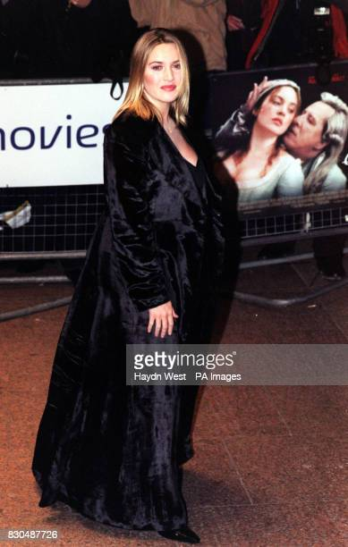 Actress Kate Winslet one of the stars of film arriving for the Gala World Premiere of Quills at the Odeon in London's Leicester Square * 8/1/2001...