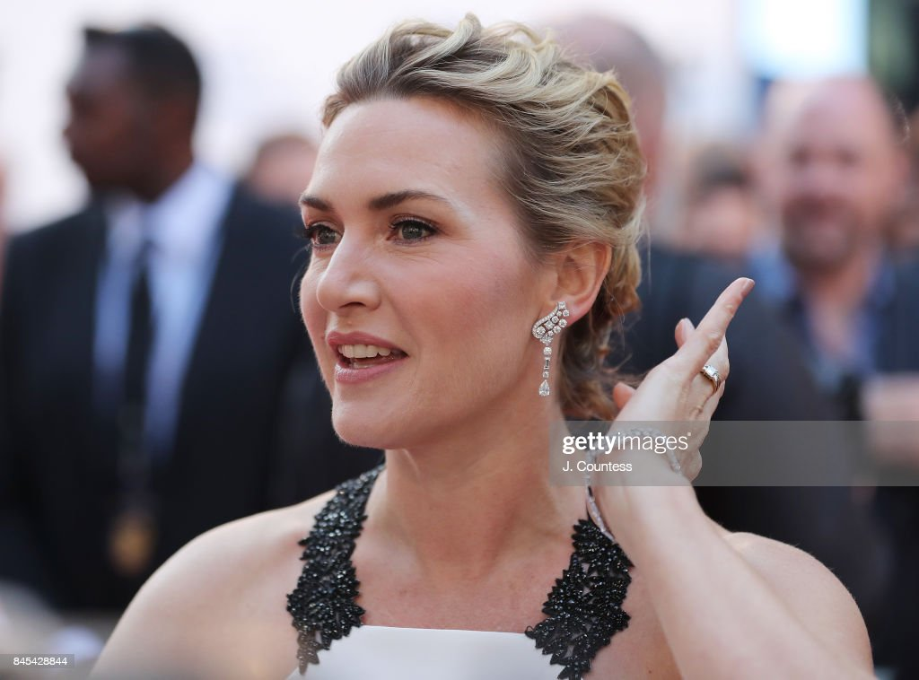 Actress Kate Winslet speaks to the media at the premiere of 'The Mountain Between Us' during the 2017 Toronto International Film Festival at Roy Thomson Hall on September 10, 2017 in Toronto, Canada.