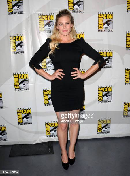 Actress Katee Sackhoff appears at Entertainment Weekly's 'Women Who Kick Ass' during ComicCon International 2013 at San Diego Convention Center on...
