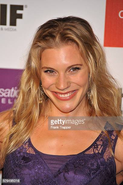Actress Katee Sackhoff arrives at Entertainment Weekly and Women In Film preEmmy party held at the Sunset Marquis Hotel