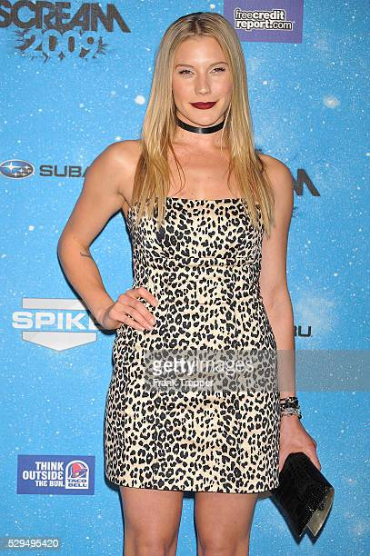 Actress Katee Sackhoff arrives at Spike TV's Scream 2009 held at the Greek Theater