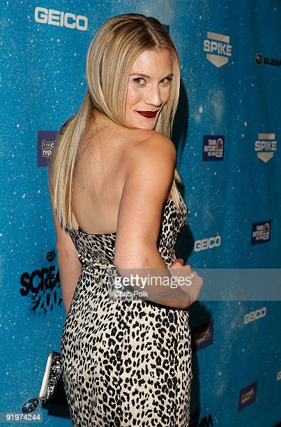 Actress Katee Sackhoff arrives at Spike TV's Scream 2009 held at the Greek Theatre on October 17 2009 in Los Angeles California