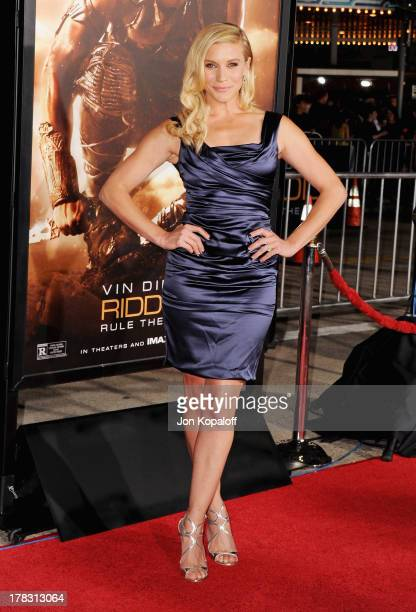 Actress Katee Sackhoff arrives at the Los Angeles Premiere 'Riddick' at the Mann Village Theater on August 28 2013 in Westwood California