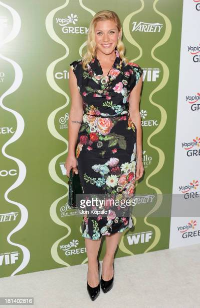 Actress Katee Sackhoff arrives at the Variety And Women In Film Pre-Emmy Party at Scarpetta on September 20, 2013 in Beverly Hills, California.
