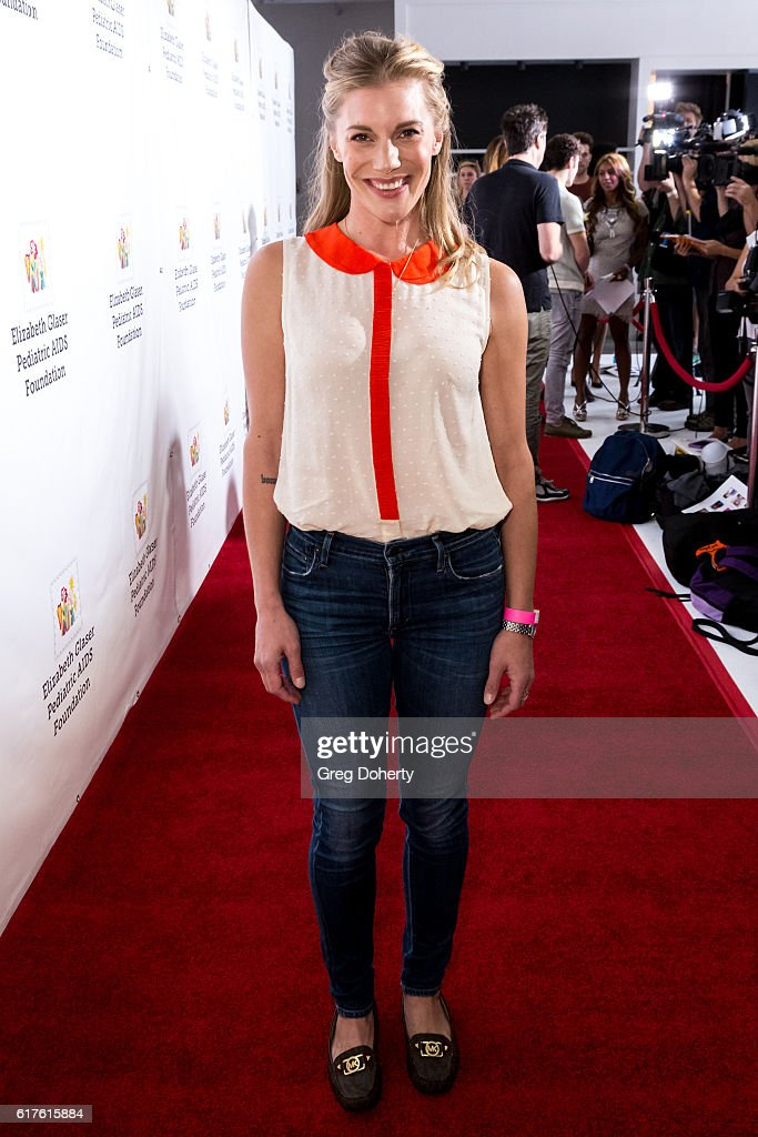 Actress Katee Sackhoff arrives for the Elizabeth Glaser Pediatric AIDS Foundation's 27th Annual A Time For Heroes at Smashbox Studios on October 23, 2016 in Culver City, California.
