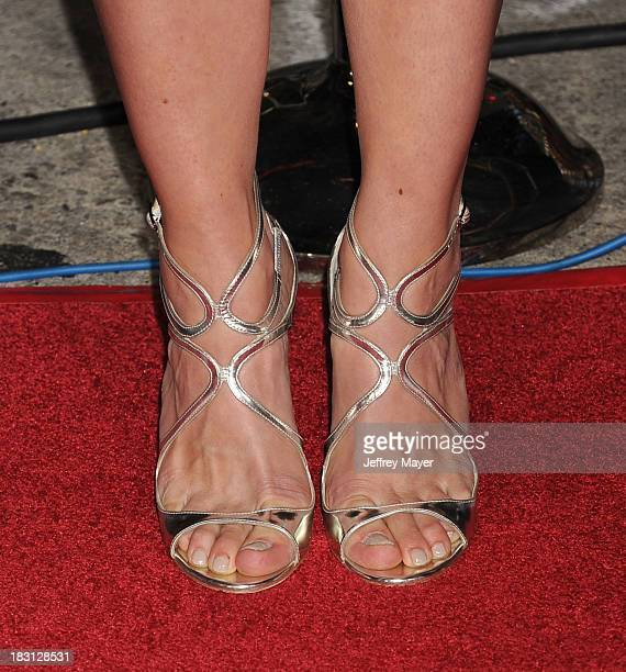 Actress Katee Sackhoff at the Los Angeles premiere of 'Riddick' at the Westwood Village Theatre on August 28 2013 in Westwood California