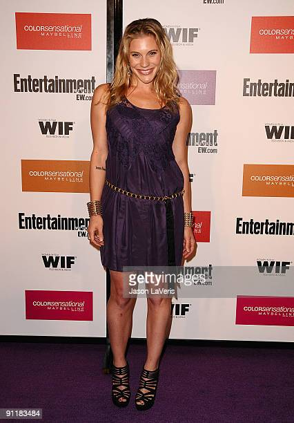 Actress Katee Sackhoff attends Entertainment Weekly And Women In Film's 7th annual preEmmy party at Restaurant at The Sunset Marquis Hotel on...