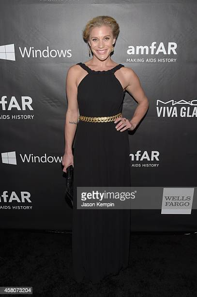 Actress Katee Sackhoff attends the 2014 amfAR LA Inspiration Gala at Milk Studios on October 29 2014 in Hollywood California