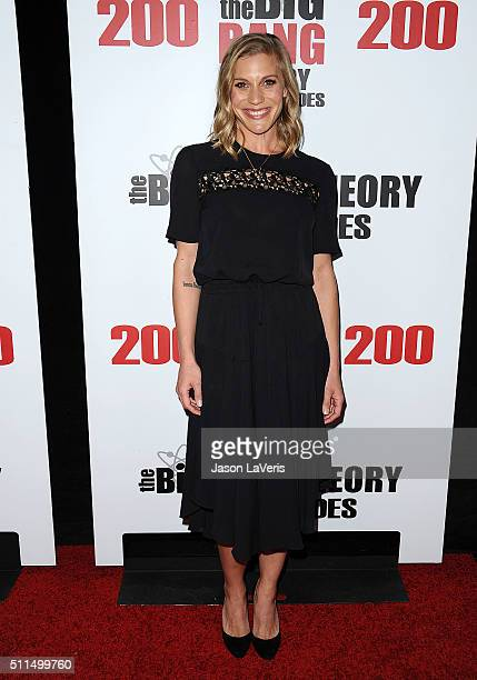 """Actress Katee Sackhoff attends """"The Big Bang Theory"""" 200th episode celebration at Vibiana on February 20, 2016 in Los Angeles, California."""