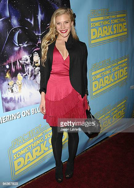 """Actress Katee Sackhoff attends the """"Family Guy Something, Something, Something, Dark Side"""" DVD release party on December 12, 2009 in Beverly Hills,..."""