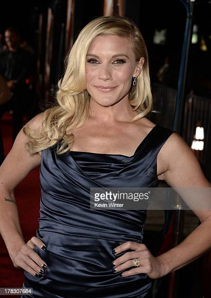 """Actress Katee Sackhoff attends the premiere of Universal Pictures' """"Riddick"""" at Mann Village Theatre on August 28, 2013 in Westwood, California."""