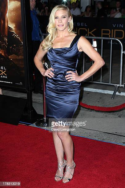 Actress Katee Sackhoff attends the premiere of Universal Pictures' Riddick at the Mann Village Theatre on August 28 2013 in Westwood California