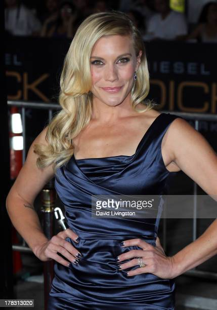 """Actress Katee Sackhoff attends the premiere of Universal Pictures' """"Riddick"""" at the Mann Village Theatre on August 28, 2013 in Westwood, California."""