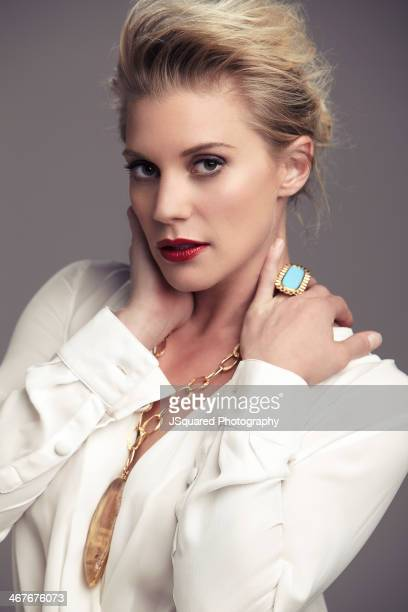 Actress Katee Sackhoff is photographed for Glamoholic on August 9 2013 in Los Angeles California PUBLISHED IMAGE