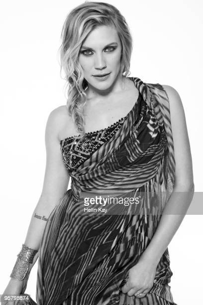 Actress Katee Sackhoff poses at a portrait session for Signature in Los Angeles CA on December 1 2009