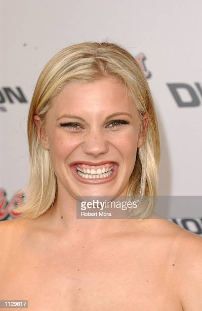 Actress Katee Sackoff attends the premiere of Halloween Resurrection at the Mann Festival Theater on July 1 2002 in Westwood California The film...